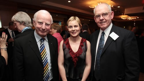Sarah Keane pictured with Pat Hickey (left) in 2011