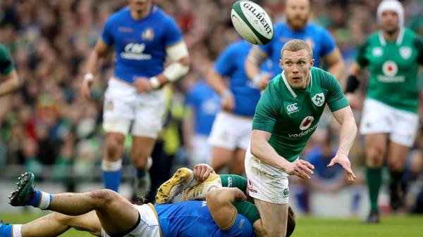Keith Earls was among the try scorers for Ireland at the weekend