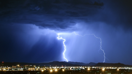 There could be a 15% drop in the average number of lightning flashes worldwide by the turn of this century
