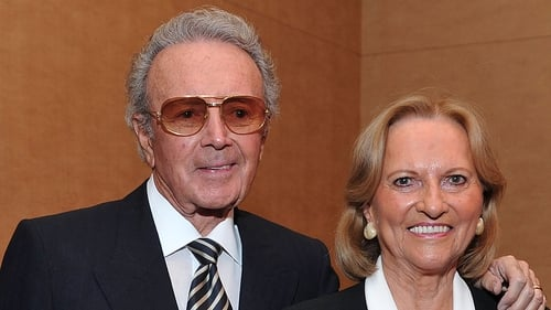 Vic Damone and his wife Rena Rowan (d 2016) pictured at an event in 2011