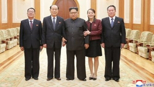 Kim Jong-un met the North Korean delegation on its return from Pyeongchang