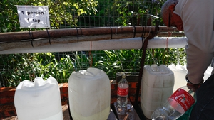 Cape Town residents collect water from public springs as supplies dwindle