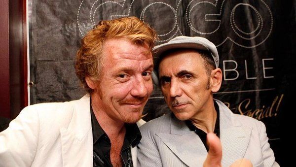 Promoter Martin Thomas, who has passed away, with Dexys frontman Kevin Rowland
