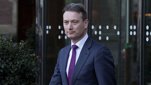 Halbe Zijlstra leaving the Dutch parliament after announcing his resignation
