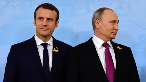 Emmanuel Macron said Vladimir Putin was 'obsessed by interference in our democracies'