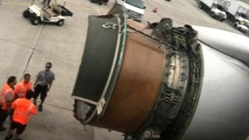The pilots had reported a vibration in the right engine (Pic: Peter Lemme)