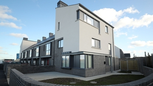 Houses in the Ó Cualann scheme in Ballymun