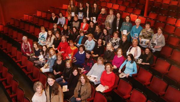 Sives Assemble! Margaret Ward (bottom, left) and Grainne Good (bottom right) are joined by actresses who have played John B. Keane's iconic role.