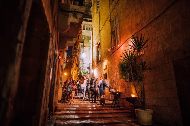 Strait Street, Valletta Night time bar