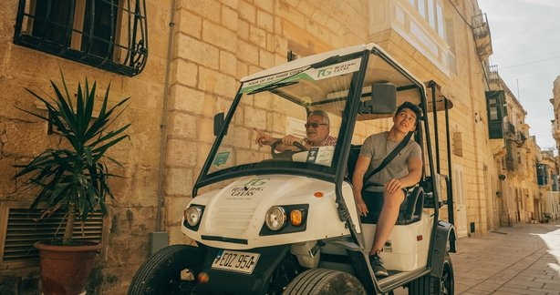 Father and son on Rolling Geek in Birgu