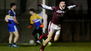 NUIG's Damien Comer celebrates after his side scored their second goal