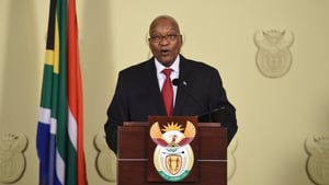 Jacob Zuma announced his resignation in a television address