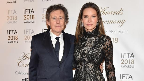 Gabriel Byrne accompanied by wife Hannah Beth King to the IFTA Awards