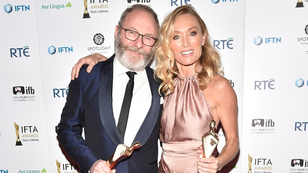 IFTas winners Liam Cunningham and Victoria Smurfit