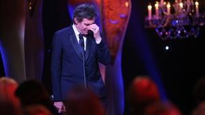 Gabriel Byrne accepting his award