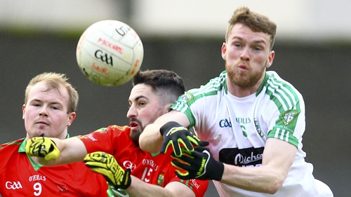 James Murray of Moorefield in action against Wicklow's Rathnew