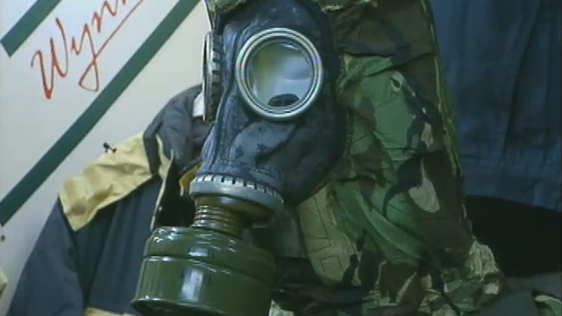 Gas mask, Army Bargains shop, Dublin (2003)