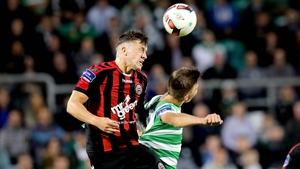 Sean Boyd and Robert Cornwall battle for possession last season