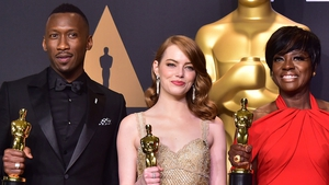 Oscar winners last year, presenters this year (L-R) Mahershala Ali, Emma Stone and Viola Davis