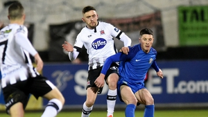 Dundalk's Dean Jarvis and Ronan Coughlan of Bray