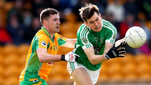 Corofin's Dylan Wall and Mark Dempsey of Moorefield