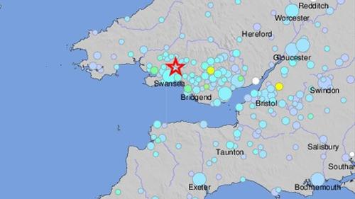 Quake rattles parts of UK