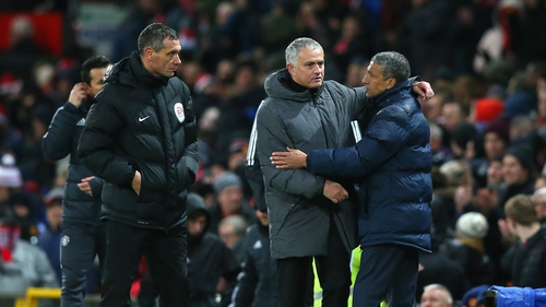 Jose Mourinho and Chris Hughton have a cup quarter-final to look forward to