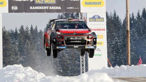 Snow block for Ogier as Neuville leads in Sweden