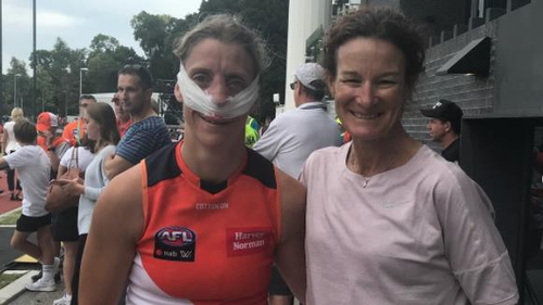 Sonia O'Sullivan was in the crowd at Collingwood for Sydney's win