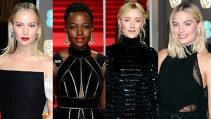 Jennifer Lawrence, Lupita Nyong'o, Saoirse Ronan and Margot Robbie were among those wearing black for the occasion