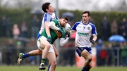 Kerry's Eanna O'Conchuir with Darren Hughes of Monaghan