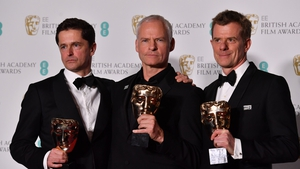 Three Billboards producers Peter Czernin, Martin McDonagh and Graham Broadbent
