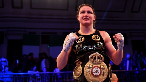Katie Taylor will fight IBF lightweight champion Victoria Bustos in New York in April