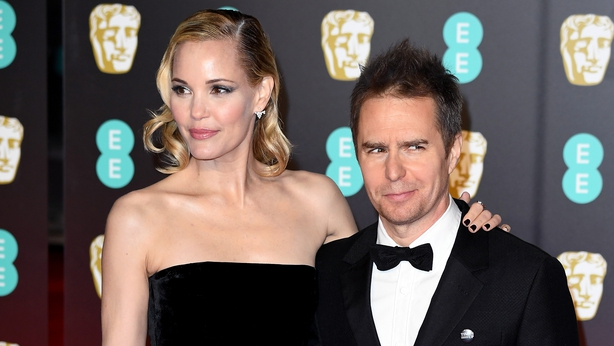 Sam Rockwell was accompanied by his partner Leslie Bibb at the ceremony