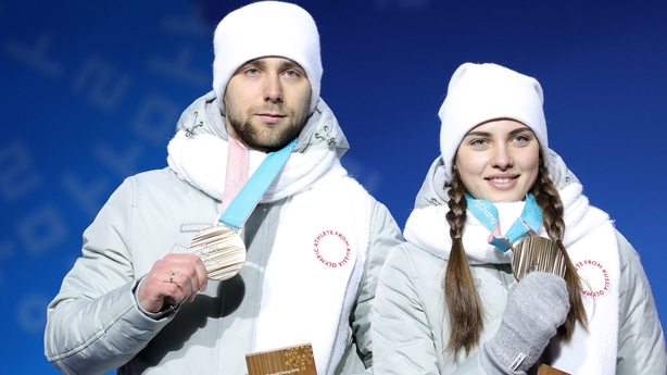 Alexander Krushelnitsky and his wife Anastasia were stripped of their bronze medals