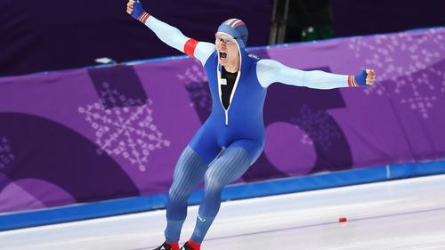 Havard Lorentzen celebrates his victory