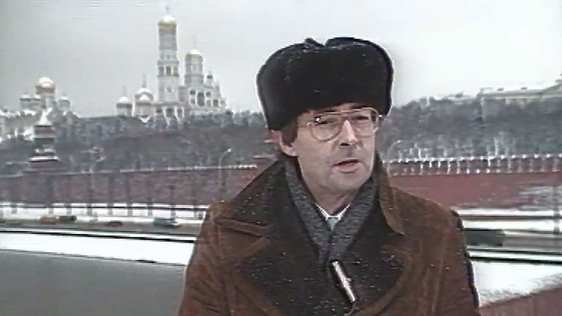 Colm Connolly in Russia reporting on Abbey tour (1988)