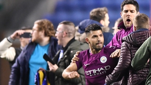 Sergio Aguero was targeted by Wigan fans