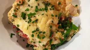 Red Pepper, Leek & Cannellini Bean Lasagne from Catherine Fulvio.