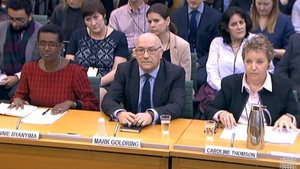Oxfam's Chief Executive Mark Goldring addressed a British parliamentary committee