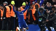 Willian celebrates his goal for Chelsea