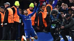 Willian celebrates his goal for Chelsea