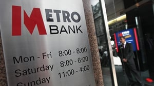 Metro Bank said it raised £375m in a discounted funding round yesterday
