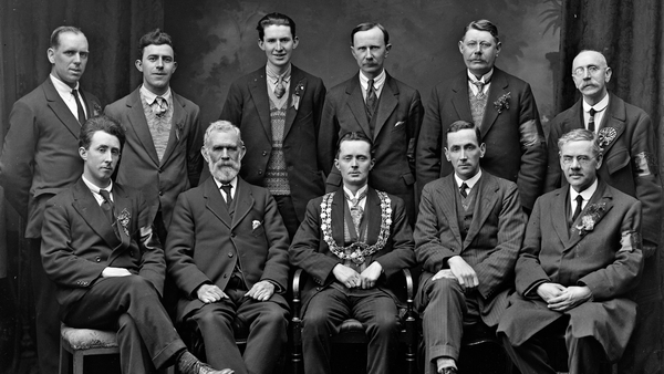 The mayor of Waterford John J. Wyley and the organising committee for the 1927 St Patrick's Day event in the city