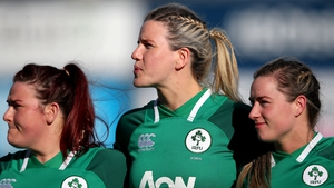 Orla Fitzsimons (centre) has been named in the Ireland team to take on England