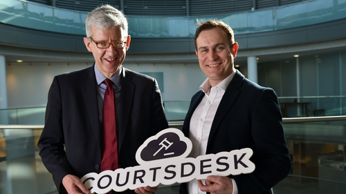 Sean Barton, Head of Dispute Resolution and Litigation at McCann FitzGerald and Enda Leahy, Courtsdesk CEO