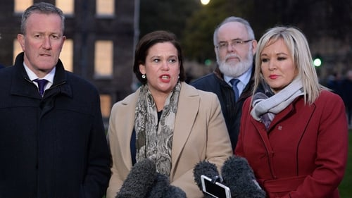 Mary Lou McDonald was speaking to the media after holding talks with Britain's Prime Minister Theresa May