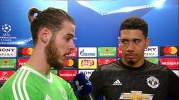 David De Gea and Chris Smalling - Reaction | UEFA Champions League