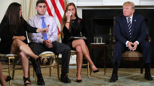 Students attended a meeting with Donald Trump at the White House