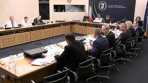 Irish Water members are before the housing committee